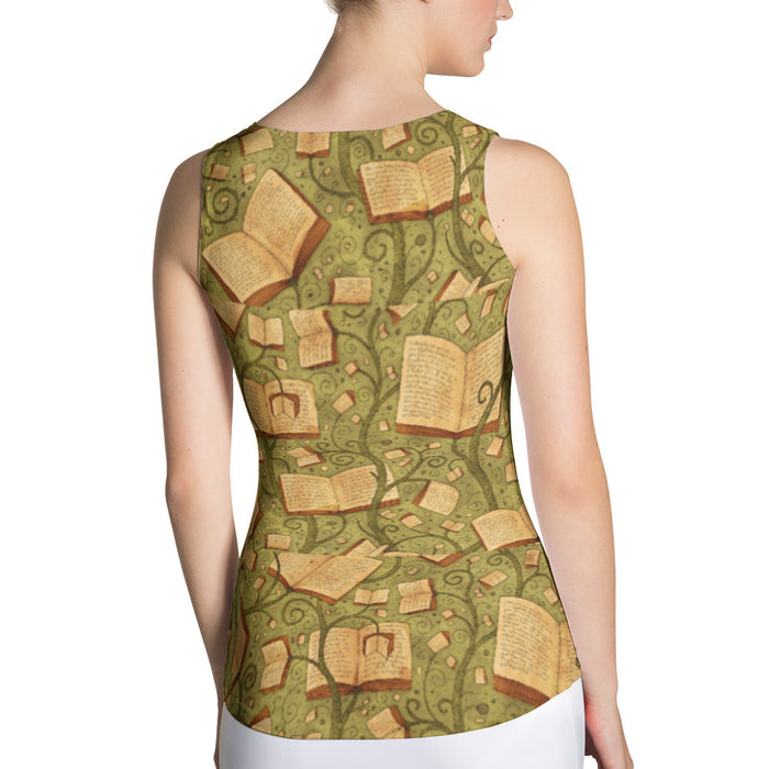 Ancient Book Artwork Sublimation Cut & Sew Women Tank Top