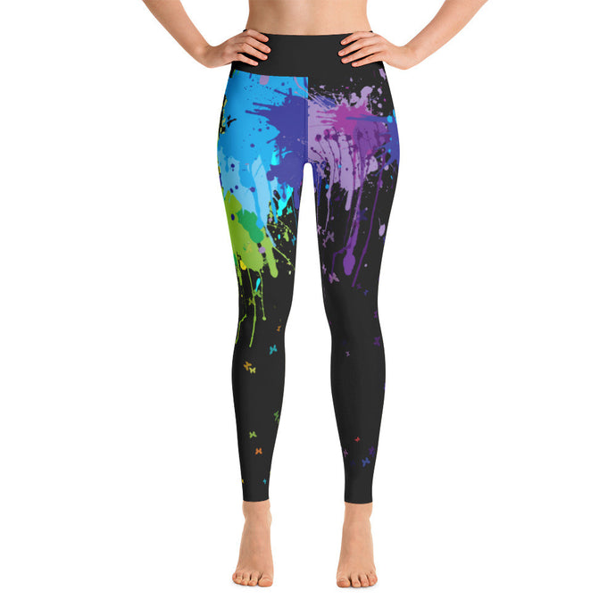 Paint Splash Printed Yoga Leggings