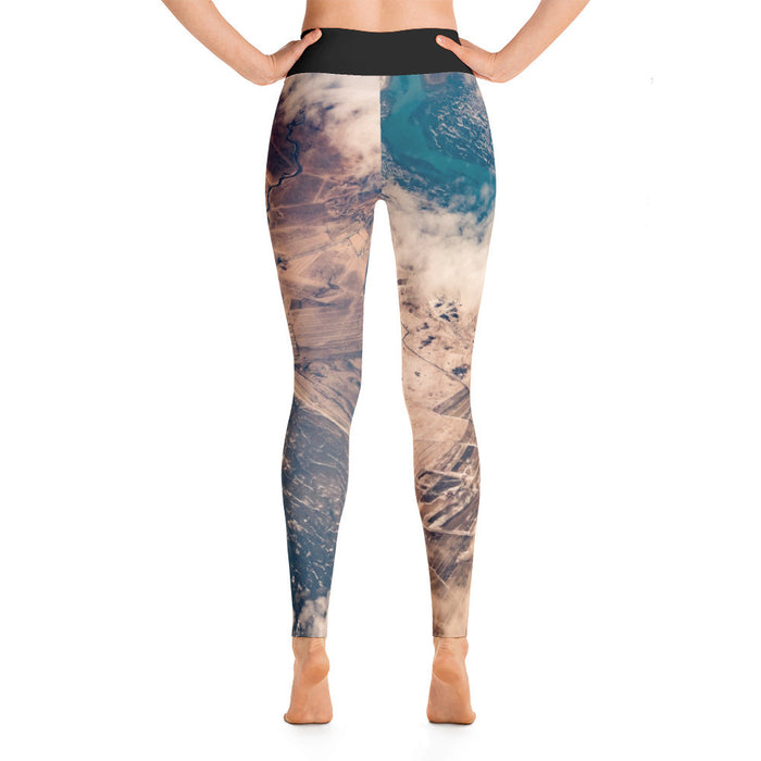 Aerial View Artwork Printed Yoga Leggings