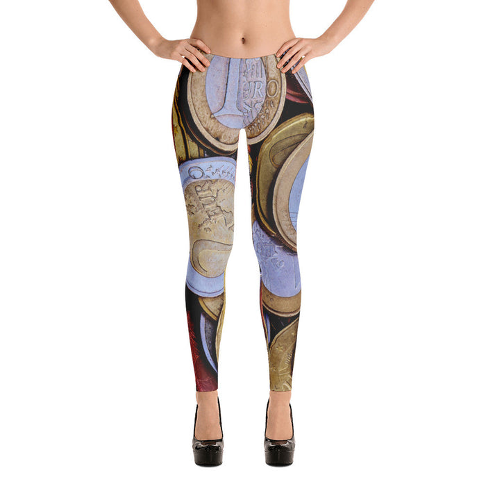 Currency Artwork Printed Women Leggings
