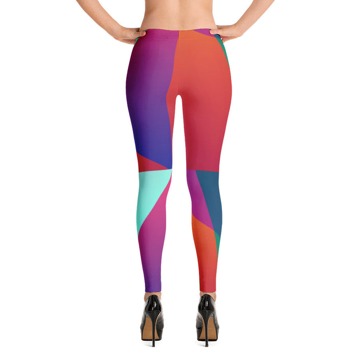 Geometrical Design Artwork Printed Women Leggings