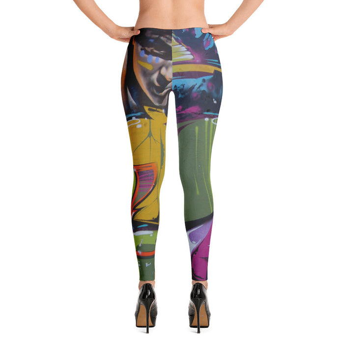 Wall Graffiti Artwork Printed Women Leggings