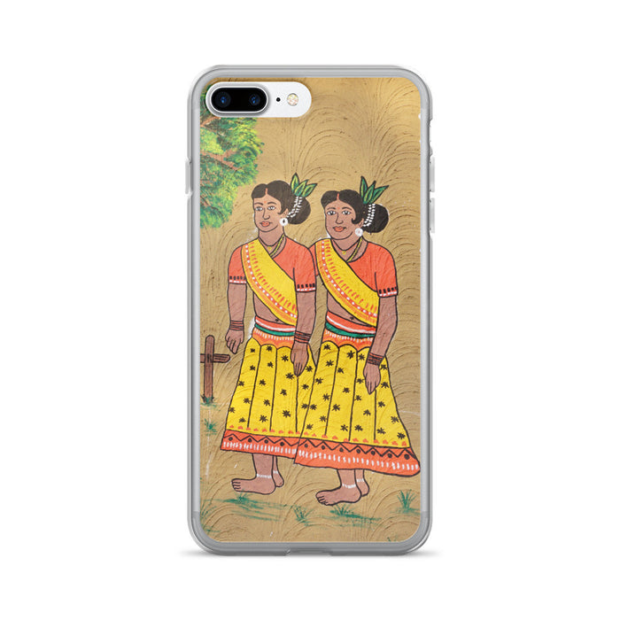 Village Girls Artwork Printed iPhone 7/7 Plus Case