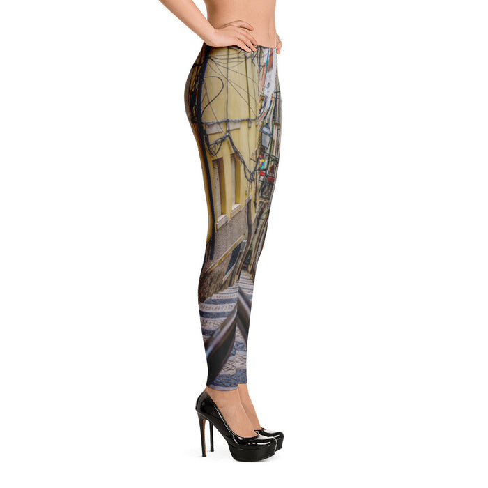 Lane View Artwork Printed Women Leggings