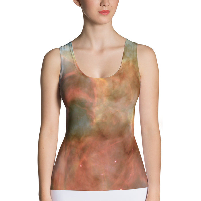 Cloudy Sky Printed Sublimation Cut & Sew Women Tank Top