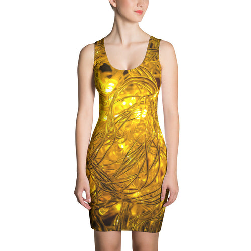 Wired Lights Artwork Printed Sublimation Cut & Sew Dress