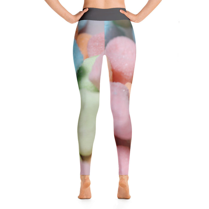 Sweet Candy Artwork Printed Yoga Leggings