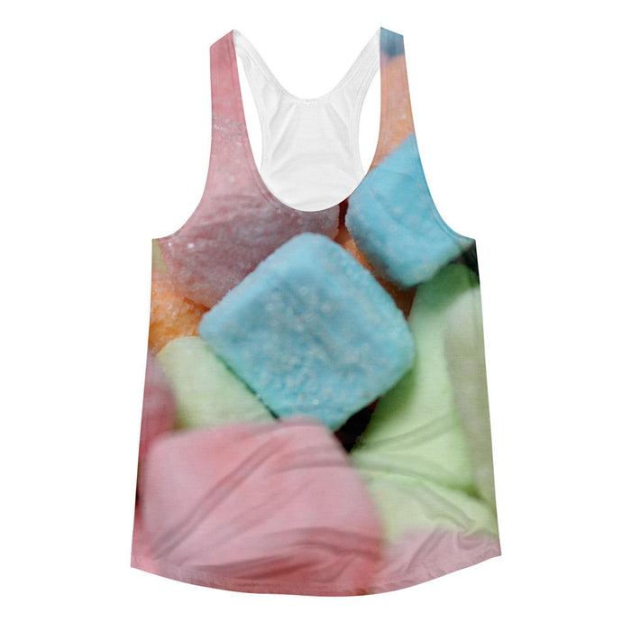 Coloful Marshmallow Printed Women's Racerback Tank