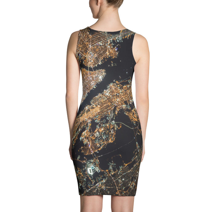 Aerial Map Artwork Printed Sublimation Cut & Sew Dress