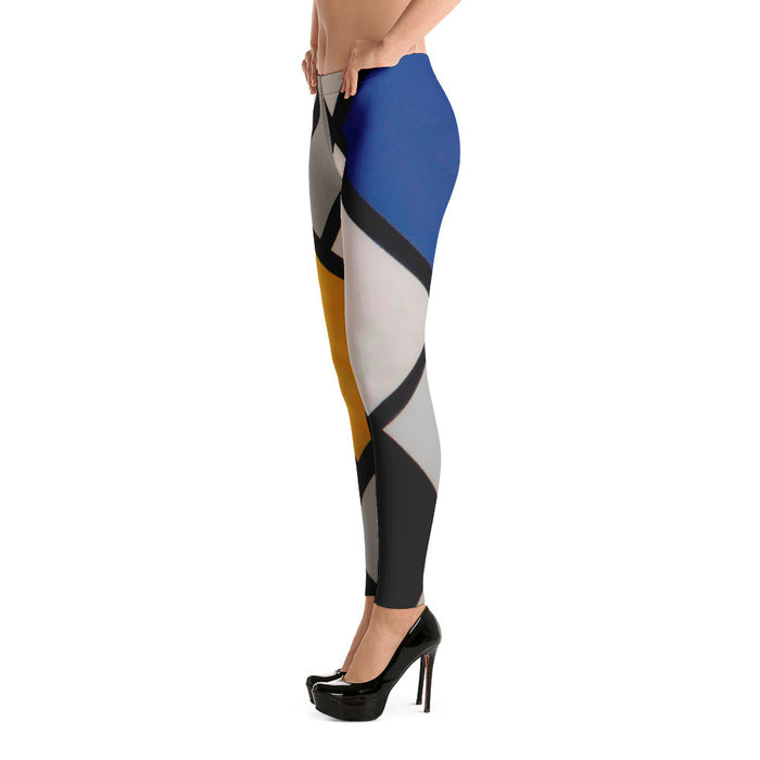 Elegant Line Art Pattern Printed Women Leggings