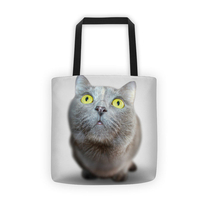 Yellow Eyed Cat Tote Bag
