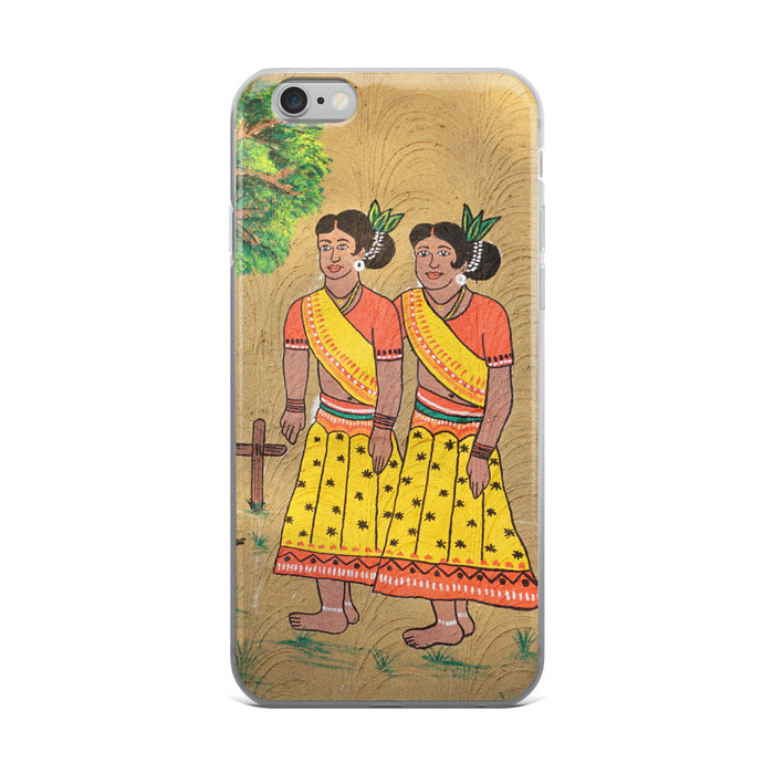 Village Girls Artwork Printed iPhone 5/5s/Se, 6/6s, 6/6s Plus Case