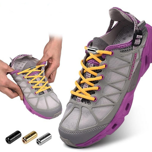 No Tie Elastic Locking Shoe Laces For Kids & Adult Shoes