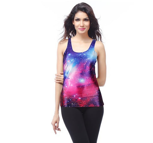 Galaxy Space Print Women's Racerback Tank