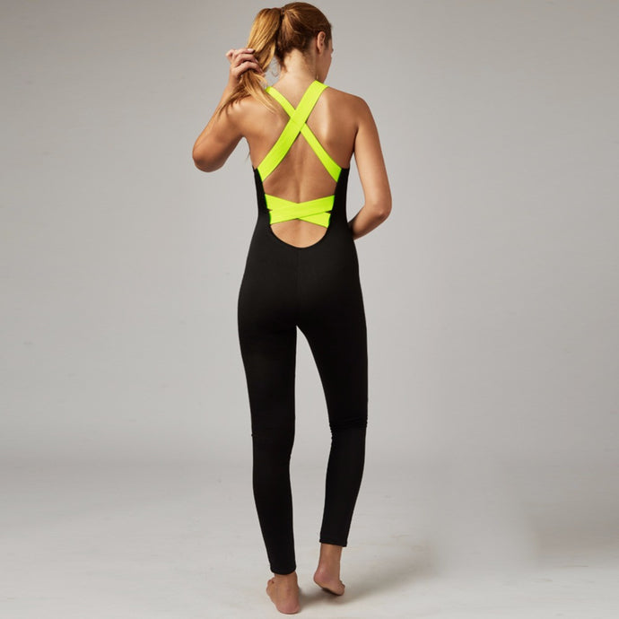 Sportswear Backless Jumpsuit For Yoga Gym Running Jogging