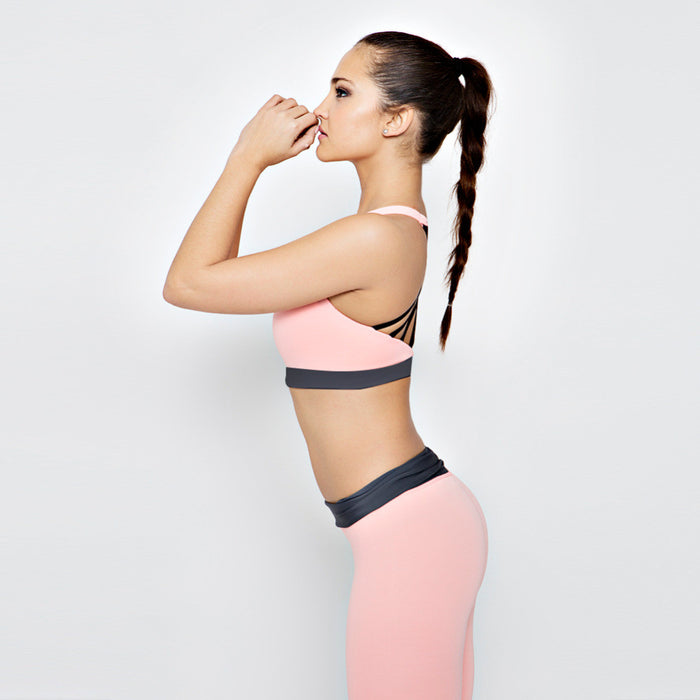 Sports Bra and Leggings Set For Yoga Running Gym
