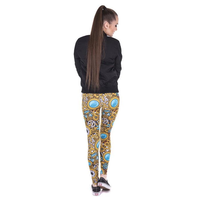 Beautiful Steam Punk Design Printed Women Leggings