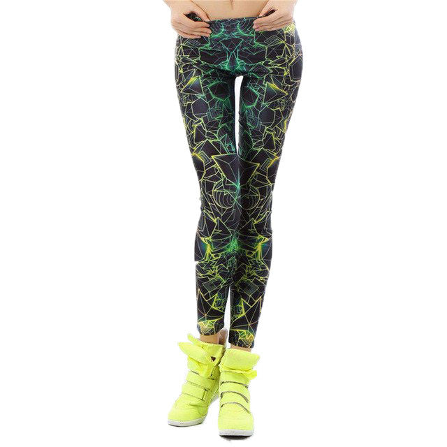 3D Printed Fluorescence Ray Women leggings