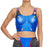 Super Hero Widowmaker Printed Blue Crop Top
