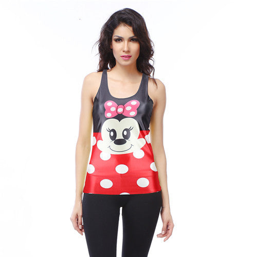 Cute Mini Mouse Printed Women's Racerback Tank