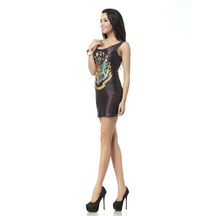 Harry Potter Hogwarts Pattern Print Mini Tank Dress