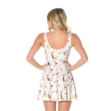 Ice Cream 3D Print Pleated Skater Dress
