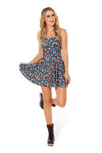 Tiny Animals Printed Pleated Skater Dress