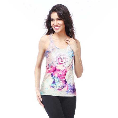 Marilyn Monroe Printed Colorful Women's Racerback Tank