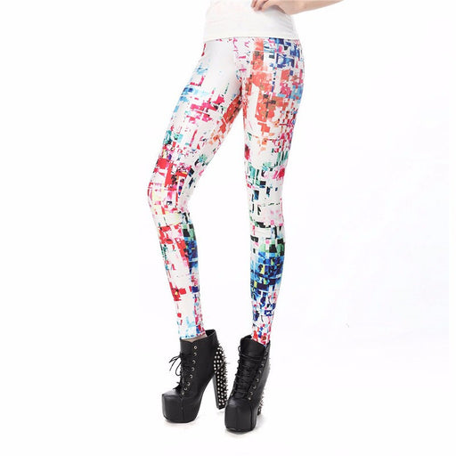 3D Printed Colorful Checkered Women leggings