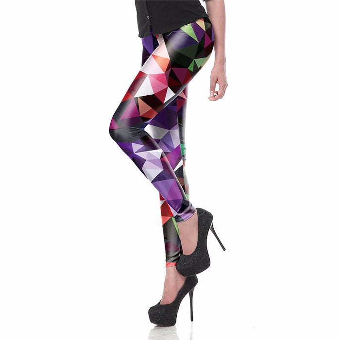 3D Printed Colorful Artwork Women leggings