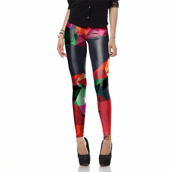 3D Printed Colorful Art Women leggings