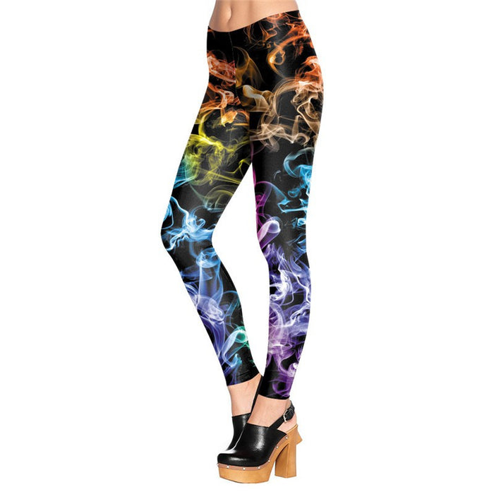 3D Printed Colorful Fluorescence Ray Women leggings