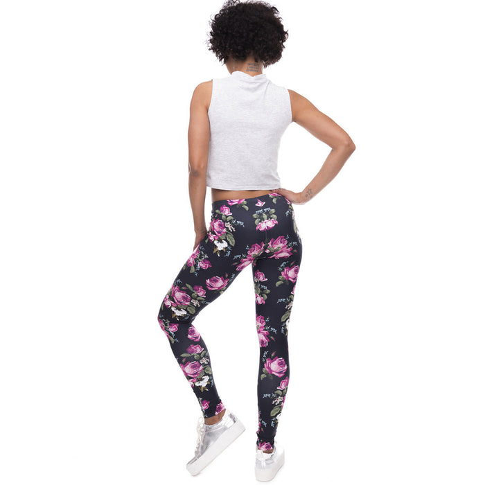 Retro Roses Printed Women Leggings