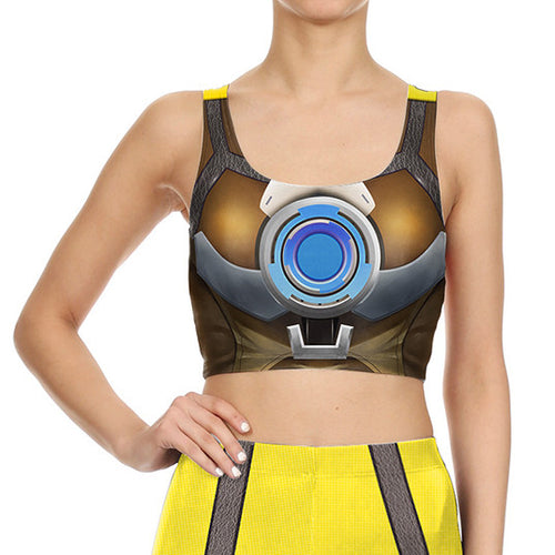 Super Hero Tracer Printed Crop Top