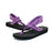 Purple Yoga Sling Wedge Sandal With Back Strap