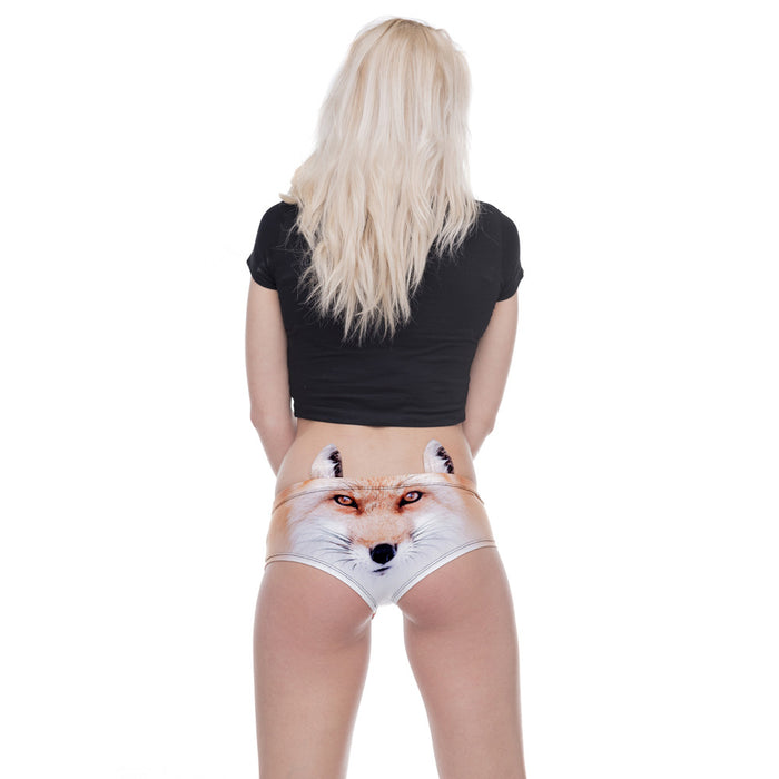Big Face Fox With Ears 3D Printed Woman Underwear