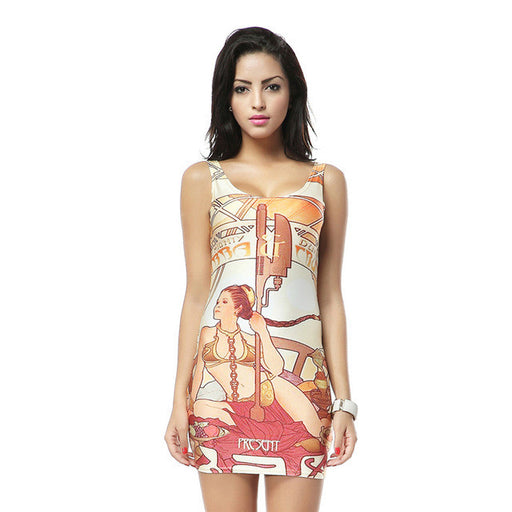 Star Wars Princess Leia Nouveau Digital Print Bandage Tank Dresses