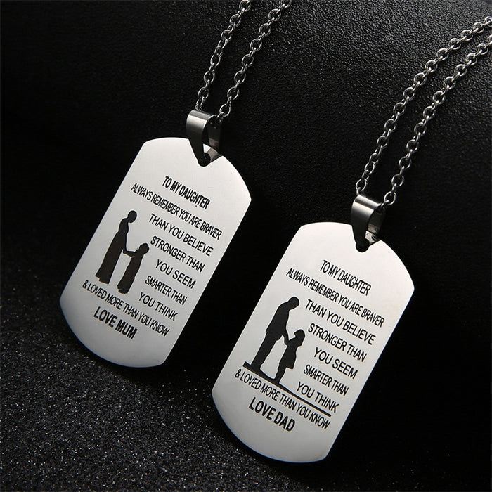 Custom Engraved Stainless Steel Pendant Necklace