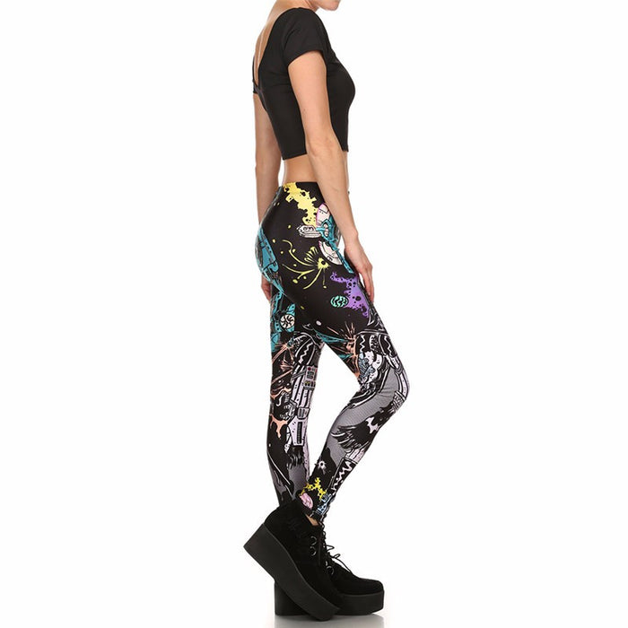 Cartoon Star War Printed Women Leggings
