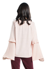 Cotton Brothers Rose Blush Bell Sleeve Jumper