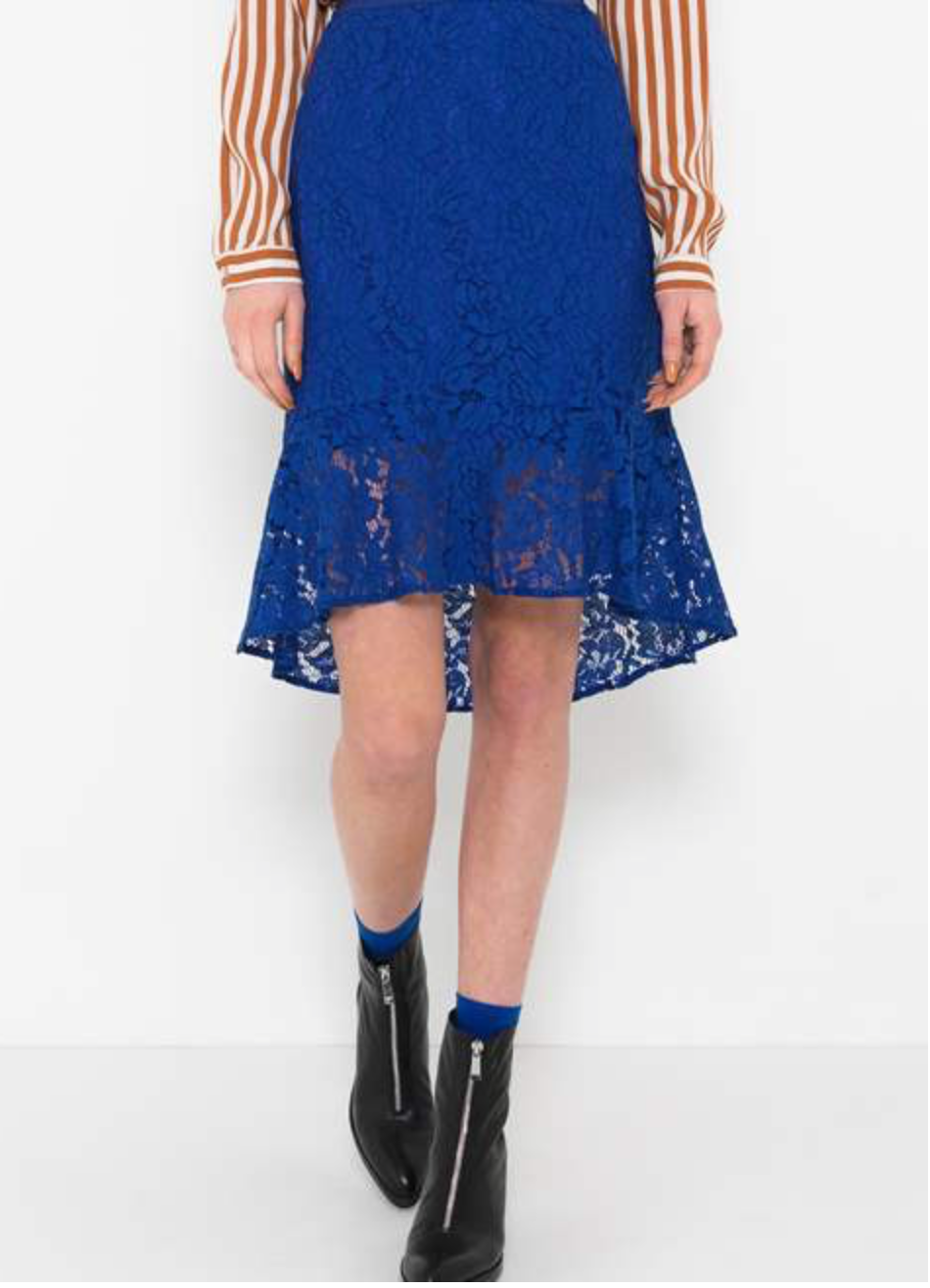 Saint Tropez Royal Blue Lace Skirt
