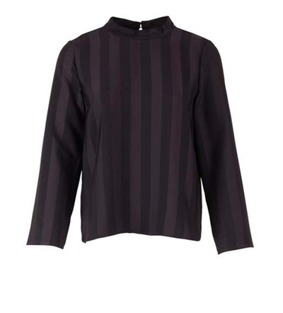 Saint Tropez Striped Black Blouse
