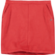 Garcia Rust Red Suede Skirt