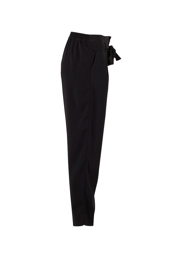 Saint Tropez Andrea Black Tie Relaxed Trousers, 30500419