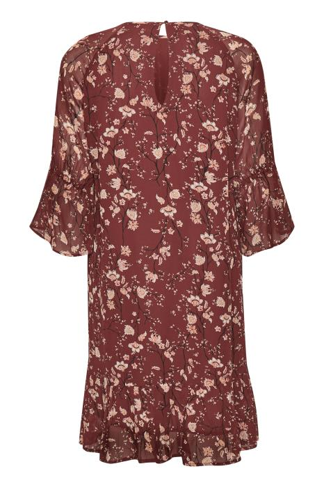 InWear Trilby Dress, Russet Brown Floral, 30104606