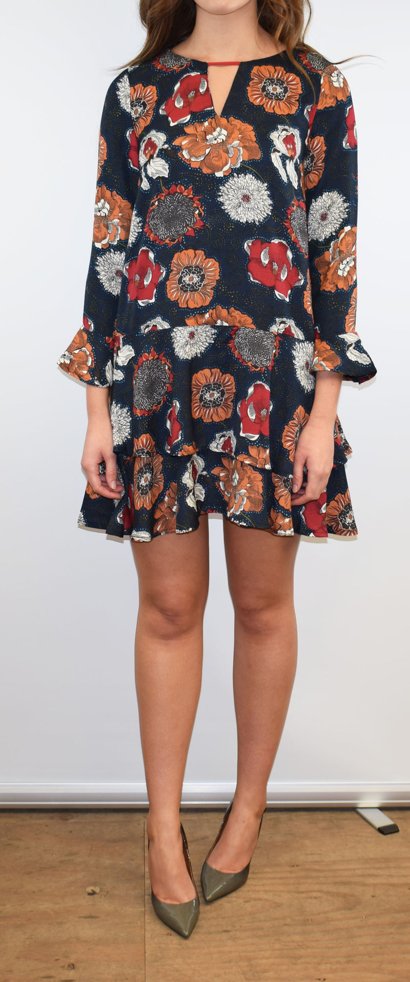 Goa Goa Barby Navy Floral Dress