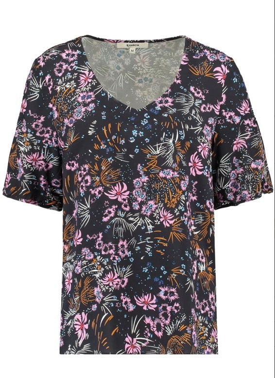 Garcia Dark Moon Floral Top