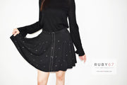 Otto Black Skirt with Musical Note