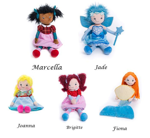 Cubbies Embroidered Rag Dolls