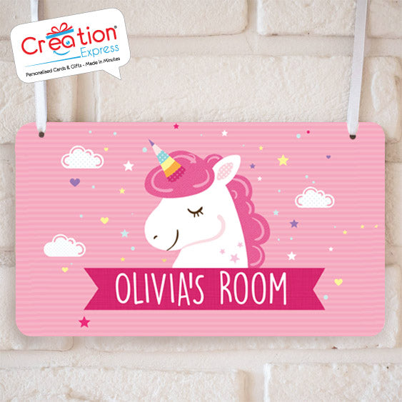 Magical Pink Unicorn  - Hanging Plaque